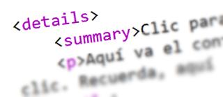 Interactividad en HTML5: los elementos details y summary